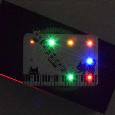 画像4: LED光るパスケース10灯 猫とメロディー (4)